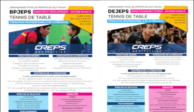 Formation BPJEPS / DEJEPS rentrée 2020