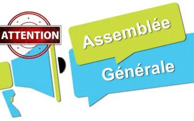 Modification convocation Assemblée Générale élective 2020