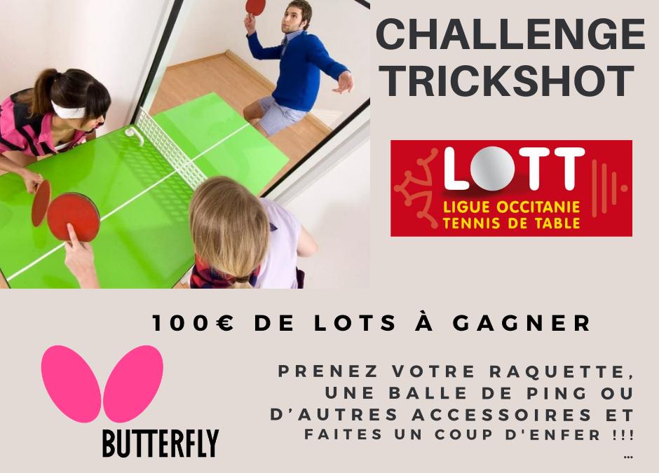 Trickshot : gagnez des bons d'achat Butterfly !