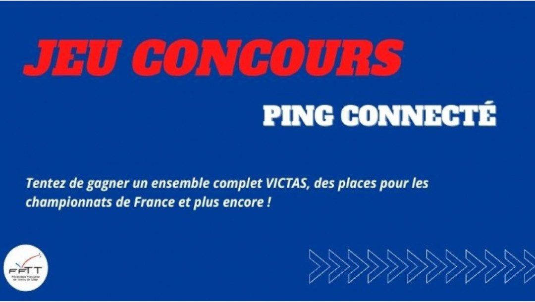 Résultat du jeu-concours «Ping connecté»