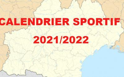 Calendrier Sportif 2021/2022
